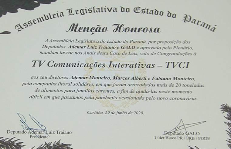 TVCi recebe homenagem da Assembleia Legislativa do Paraná