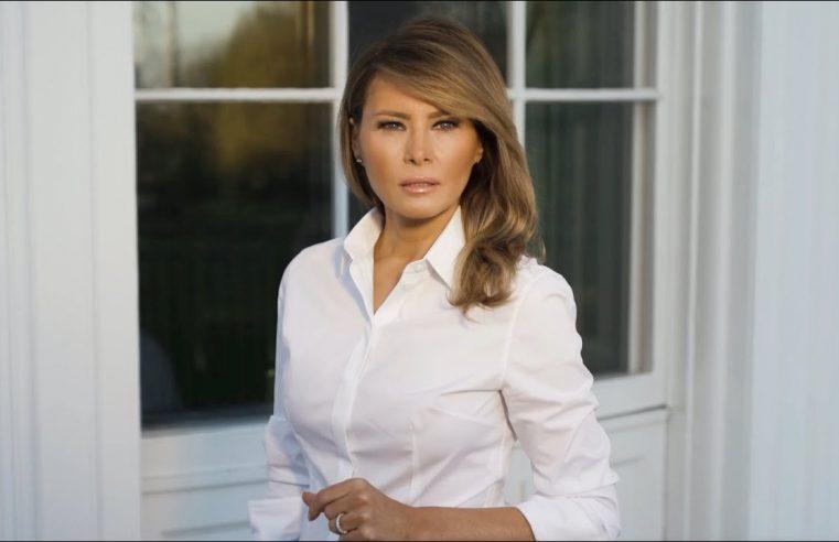 Em discurso realista, Melania contrasta com Trump e oferece conforto a vítimas da Covid-19