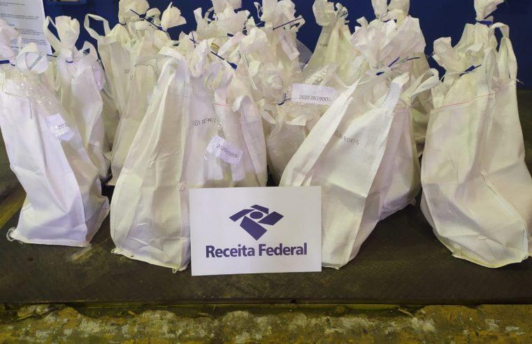 Receita Federal apreende 388 kg de cocaína em carga de exportação no Porto de Santos