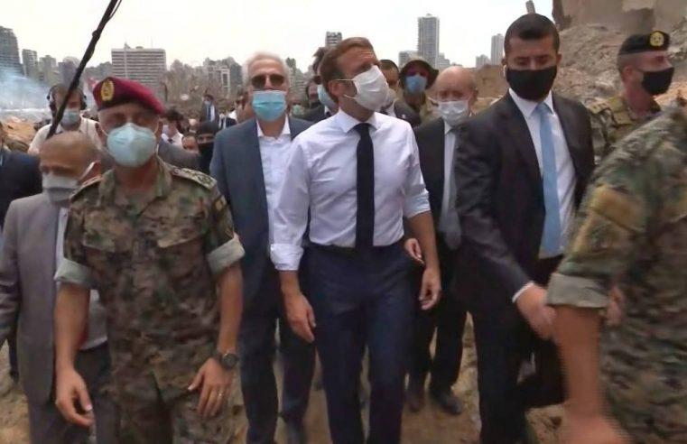 Macron vai a Beirute em dia em que mortos por explosão chegam a 145