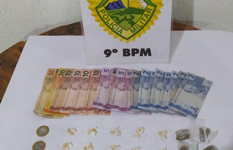Polícia Militar prende dupla suspeita de traficar drogas em Pontal do Paraná