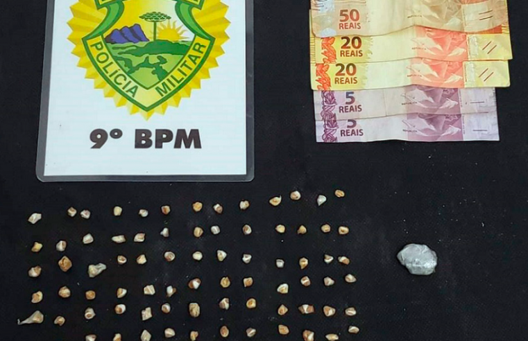 ROTAM de Guaratuba apreende 104 pedras de crack