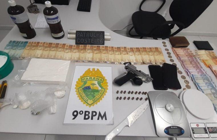 Polícia Militar apreende mais de um quilo de cocaína em residência no Emboguaçu