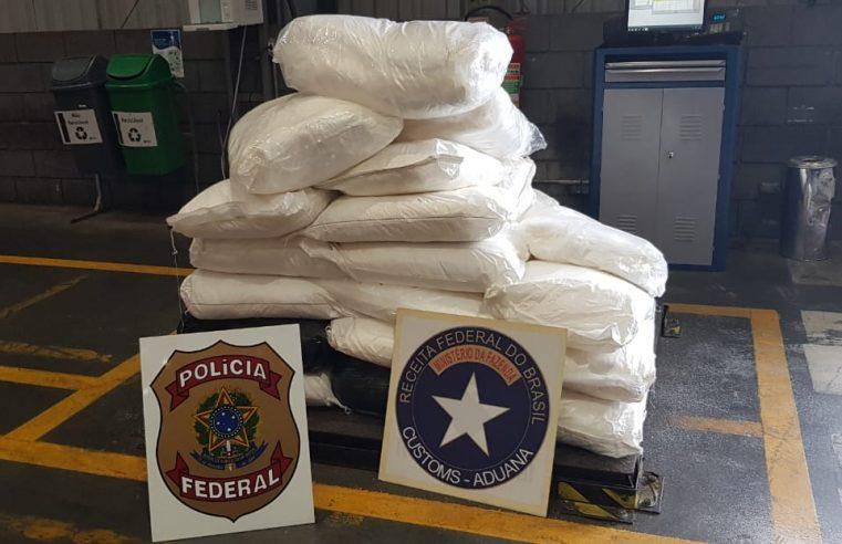 Operação conjunta da Polícia Federal e Receita Federal apreende cocaína no Porto de Paranaguá