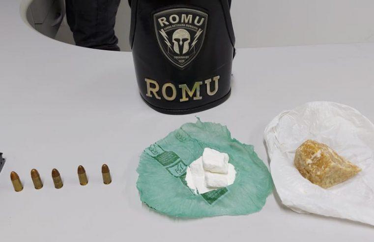 Drogas e munições são apreendidas pela ROMU na Ilha dos Valadares, em Paranaguá