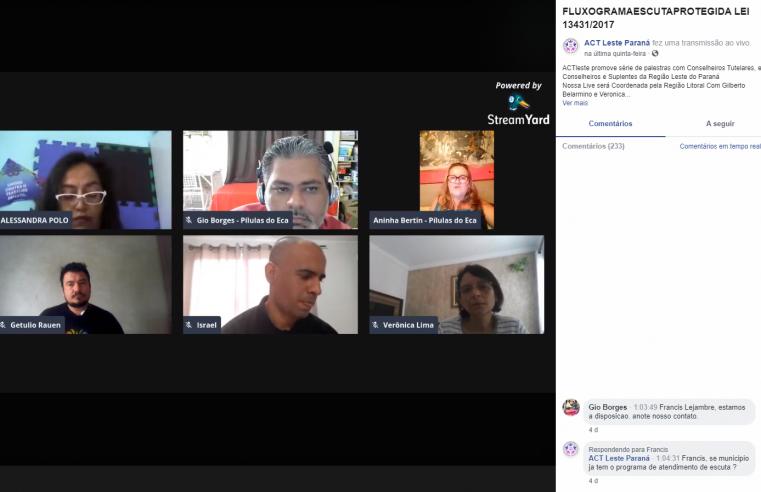 Associação de conselheiros do leste do Paraná promove palestra sobre escuta protegida