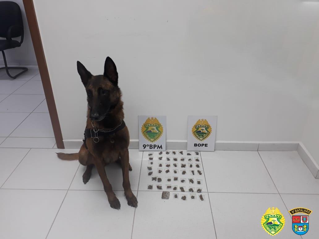 Homem é preso por tráfico de drogas no bairro Emboguaçu
