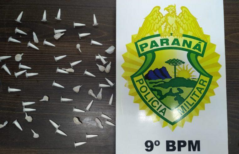 Em Matinhos, PM prende homem e apreende 58 porções de cocaína e crack