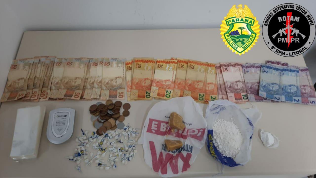 Quatro pessoas são presas por tráfico de drogas em Paranaguá