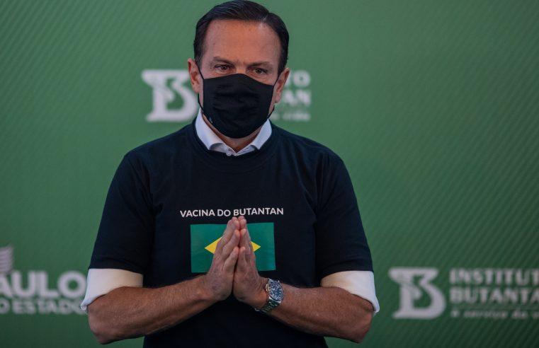 SP vai enviar doses ao Amazonas independentemente do plano federal, diz Doria