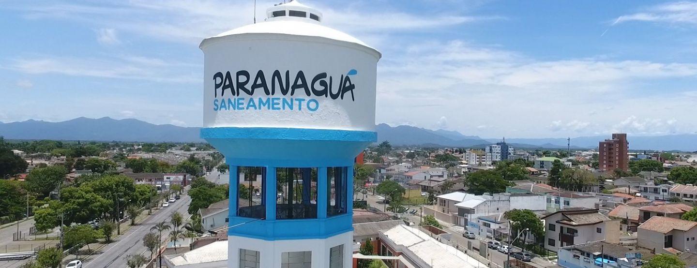 Paranaguá Saneamento realiza manutenção emergencial na rede de distribuição de água, em Alexandra
