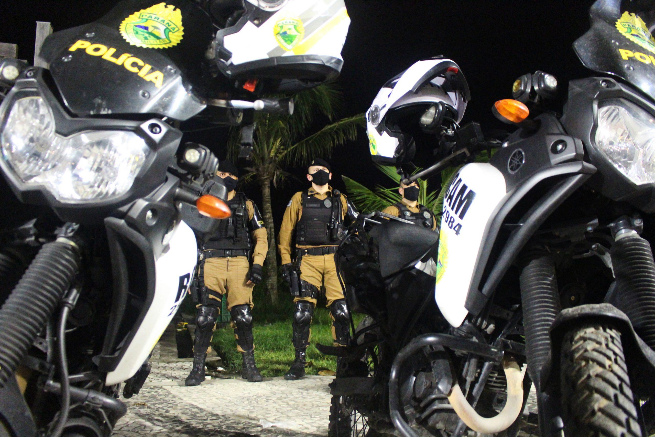 Três homens são presos por roubo a motoboy de pizzaria em Guaratuba