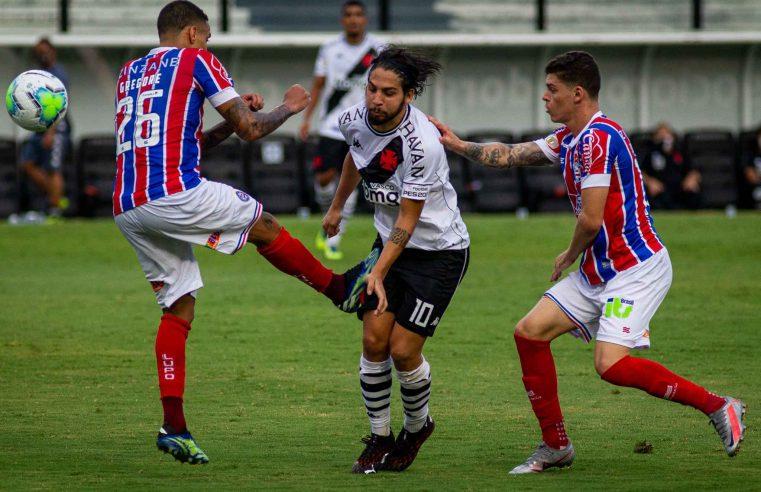 Vasco e Bahia empatam sem gols e seguem embolados em luta contra queda