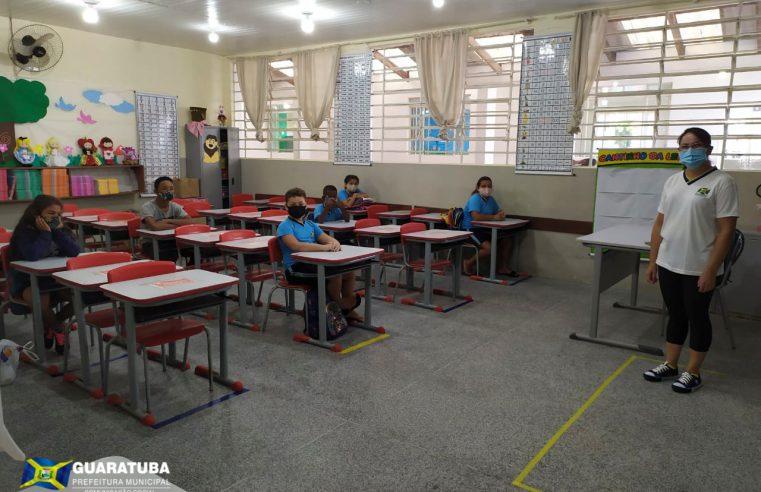 Alunos da rede municipal de Guaratuba retornam às aulas nesta quinta-feira (18)