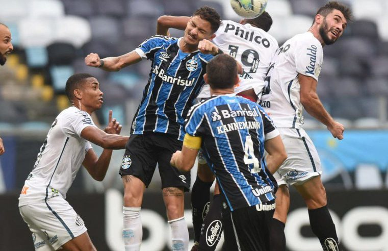 Grêmio e Santos empatam em Porto Alegre em jogo com 3 pênaltis