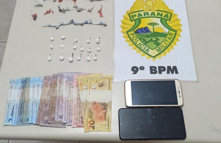 Dupla com drogas e dinheiro é presa pela PM em Pontal do Paraná