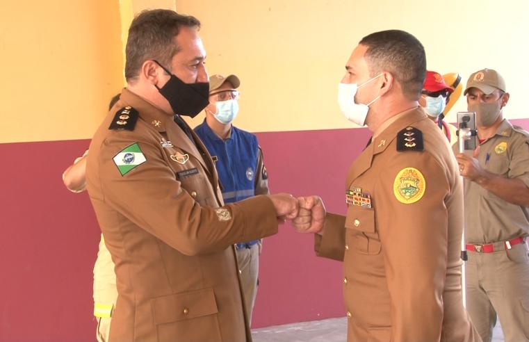 Troca de comando do Corpo de Bombeiros no litoral, foi realizada ontem (12), em Guaratuba