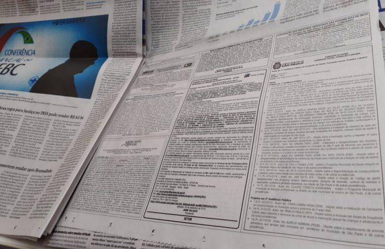 Deputado Federal defende derrubada de veto que extingue a obrigatoriedade da publicação de editais em jornais impressos