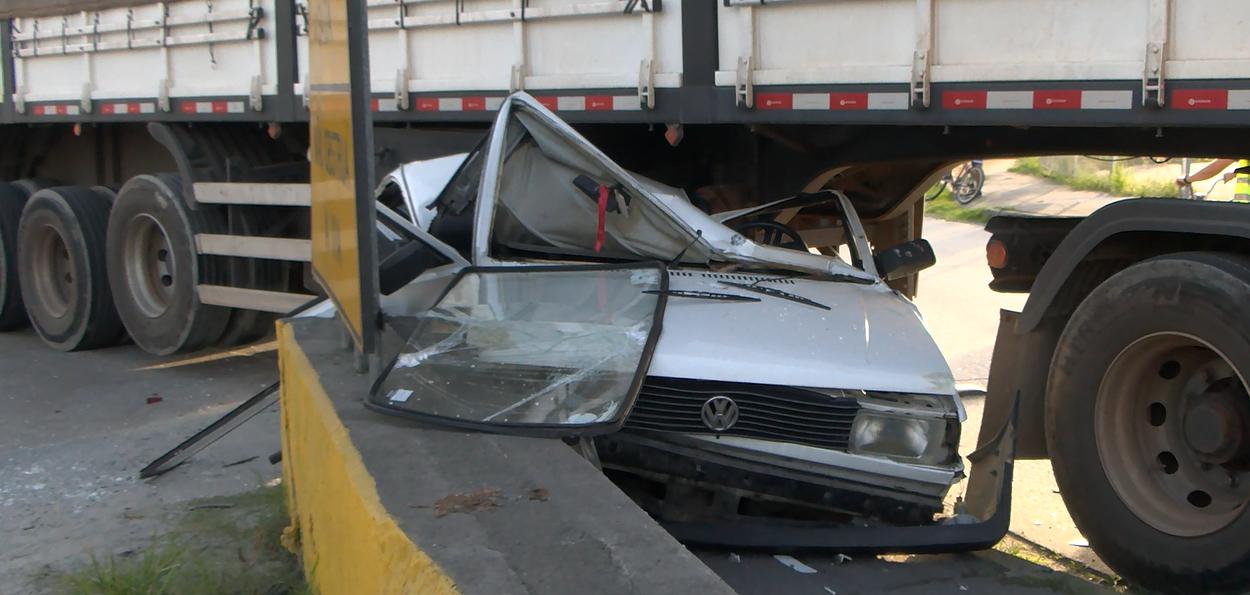 Grave acidente na região portuária não deixa ninguém ferido