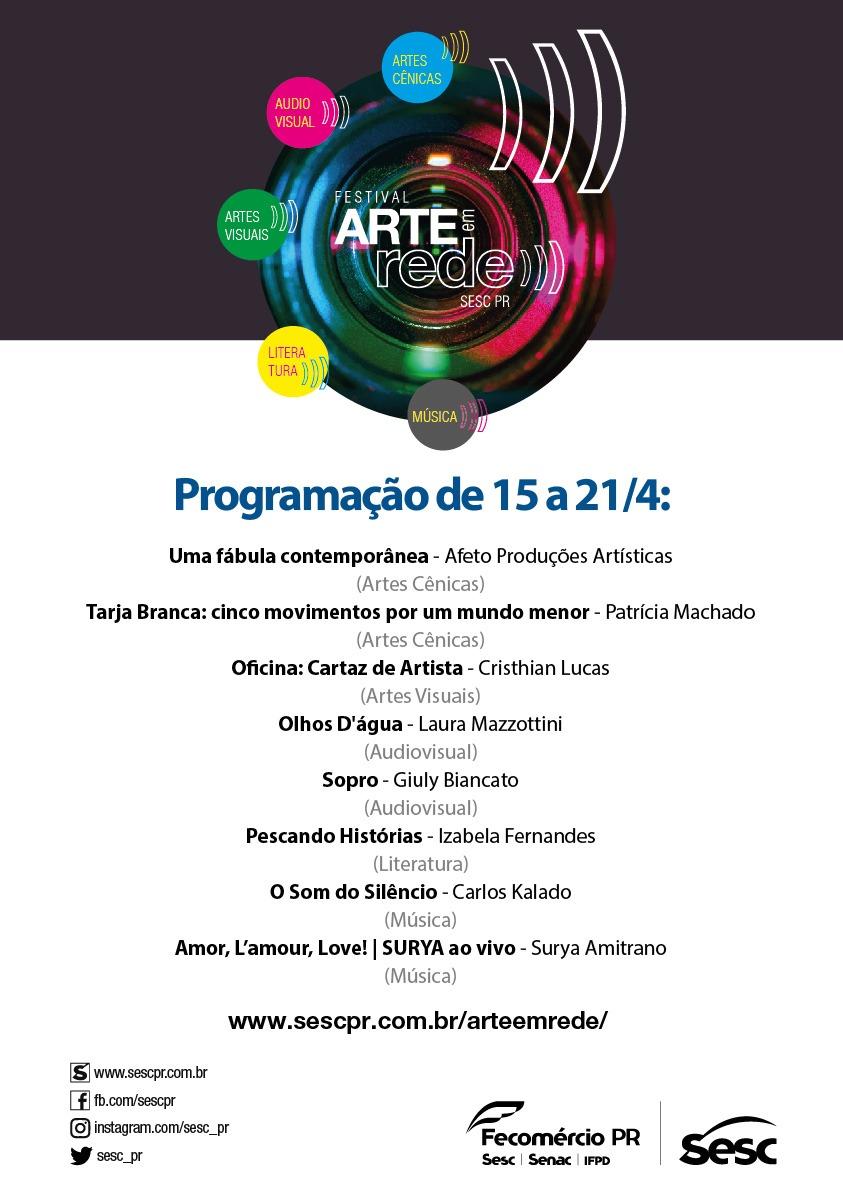 Arte em Rede: novo projeto do SESC Paraná leva cultura para dentro de casa