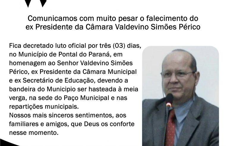 Pontal do Paraná decreta luto oficial de 3 dias após falecimento de ex-presidente da Câmara e ex-secretário da saúde do município