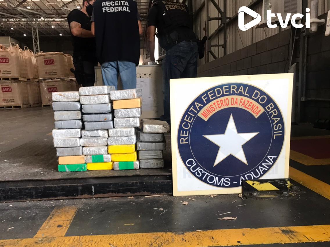 Receita Federal apreende 38 kg de cocaína no Porto de Paranaguá
