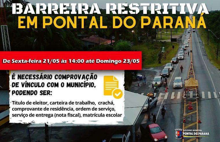 Pontal do Paraná confirma barreira sanitária neste final de semana