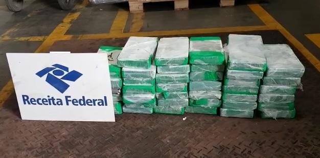 Receita Federal apreende 42 kg de cocaína no Porto de Paranaguá