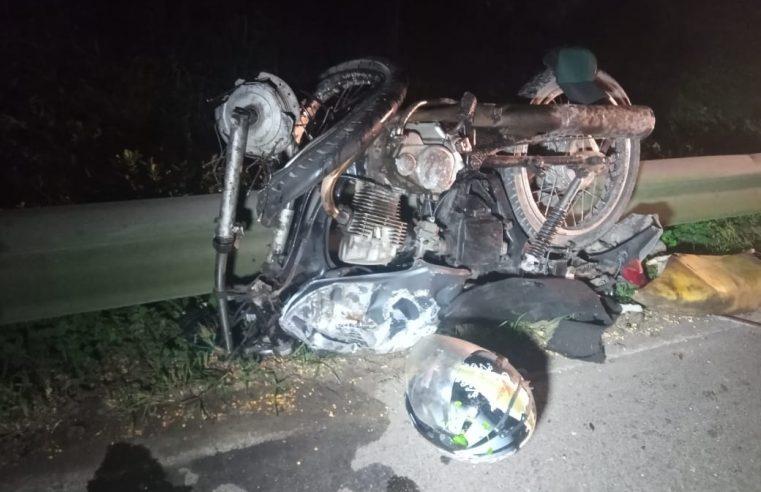 Acidente entre motocicleta e caminhão é registrado na Br-277