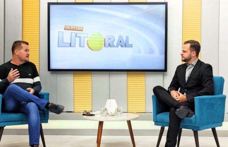 BDL: Prefeito de Paranaguá fala sobre a vacinação e sobre a assinatura da ordem de serviço para estudo de alargamento da passarela da Ilha dos Valadares
