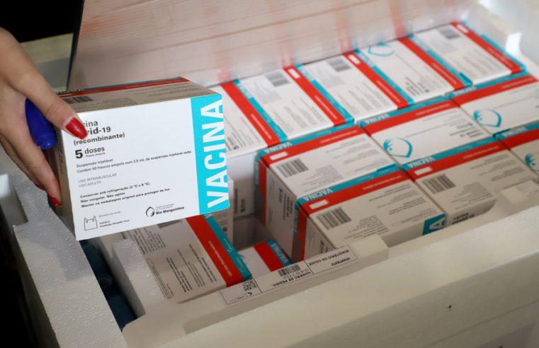 Paraná receberá nesta quarta mais 237 mil doses da AstraZeneca