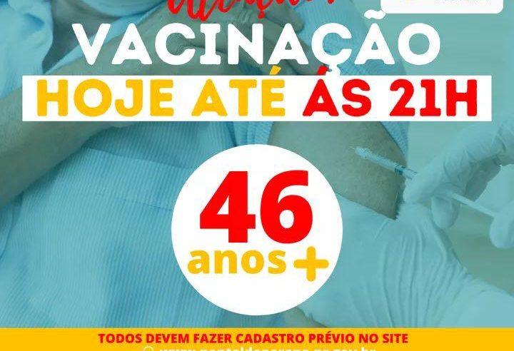 Vacinação em Pontal do Paraná se estende até às 21H deste sábado (12)