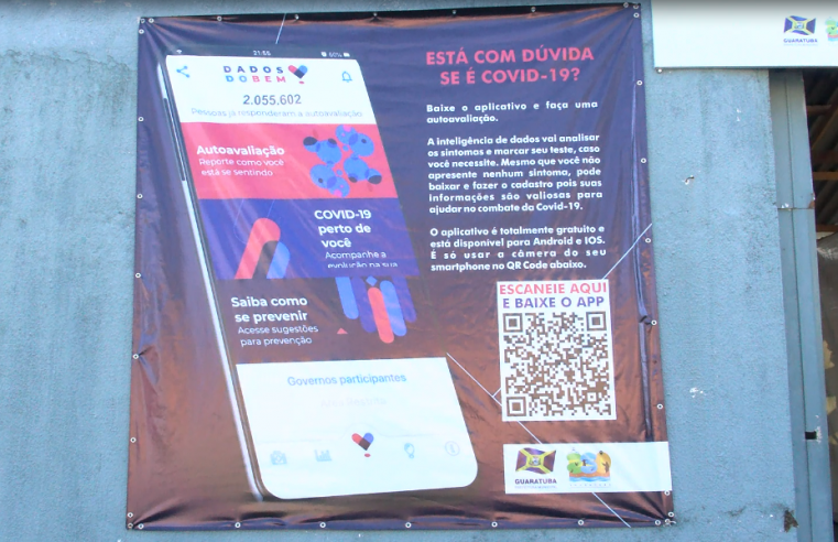 """""""Dados do Bem"""": Guaratuba adere ao aplicativo para a testagem inteligente de Covid-19"""