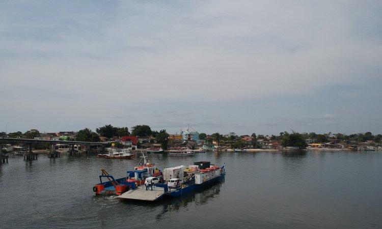 Travessia para a Ilha dos Valadares está interrompida temporariamente devido a maré baixa