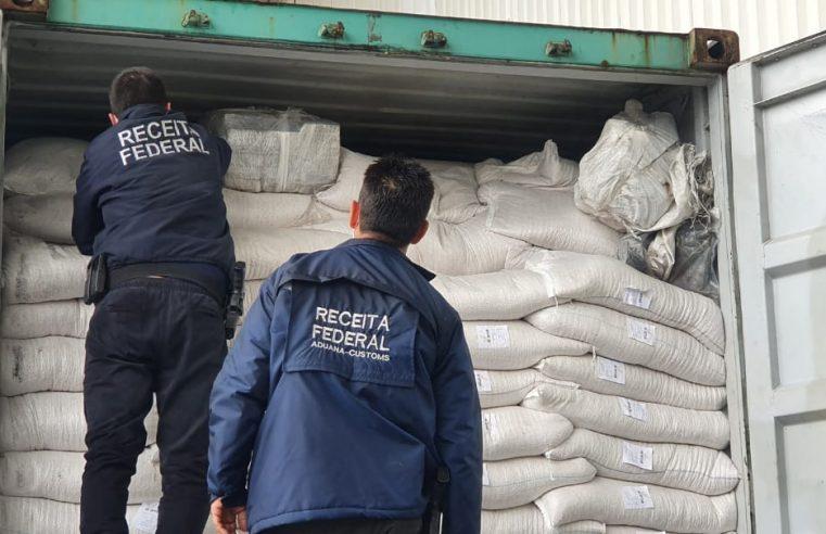 Receita Federal apreende 289 quilos de cocaína no Terminal de Contêineres de Paranaguá