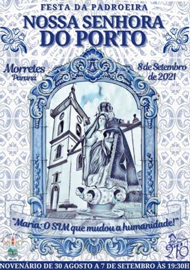 Começa hoje a festa da Padroeira Nossa Senhora do Porto em Morretes