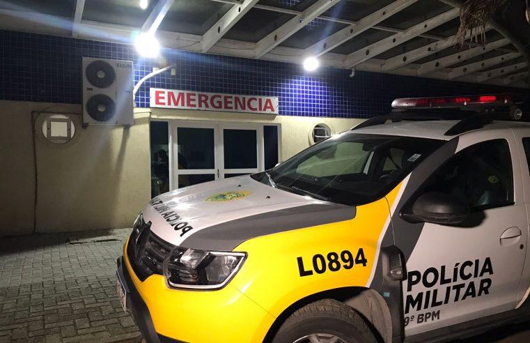 Homem é atingido por um disparo de arma de fogo após tentar fugir da Polícia Militar, em Matinhos