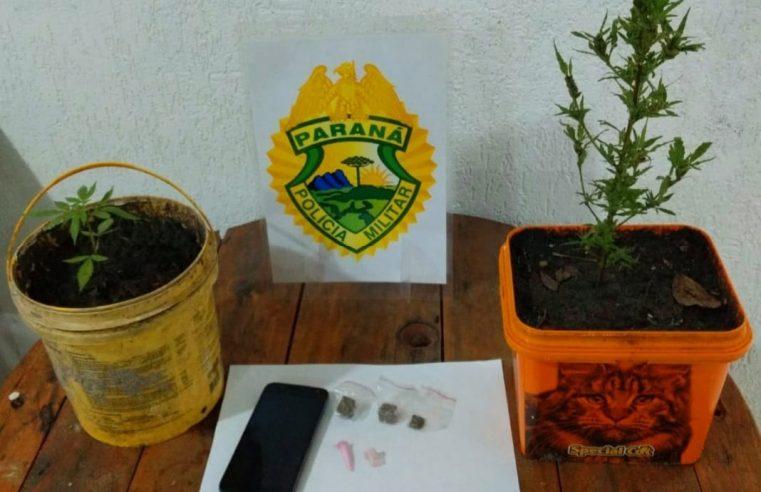 Polícia Militar apreende adolescente grávida suspeita de tráficos de drogas em Pontal do Paraná