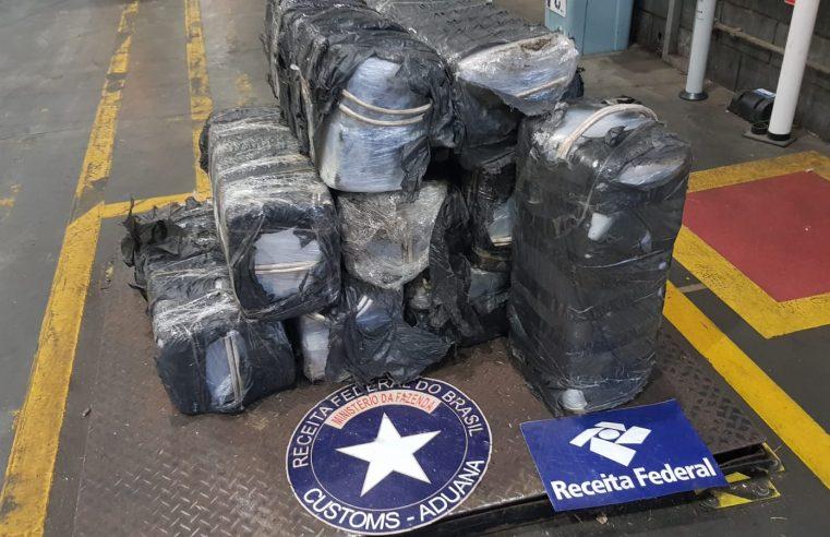 Receita Federal apreende 339 Kg de cocaína no Terminal de Contêineres de Paranaguá