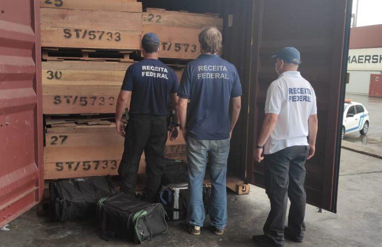 Receita Federal realiza apreensão de 168,5 kg de cocaína no Porto de Paranaguá
